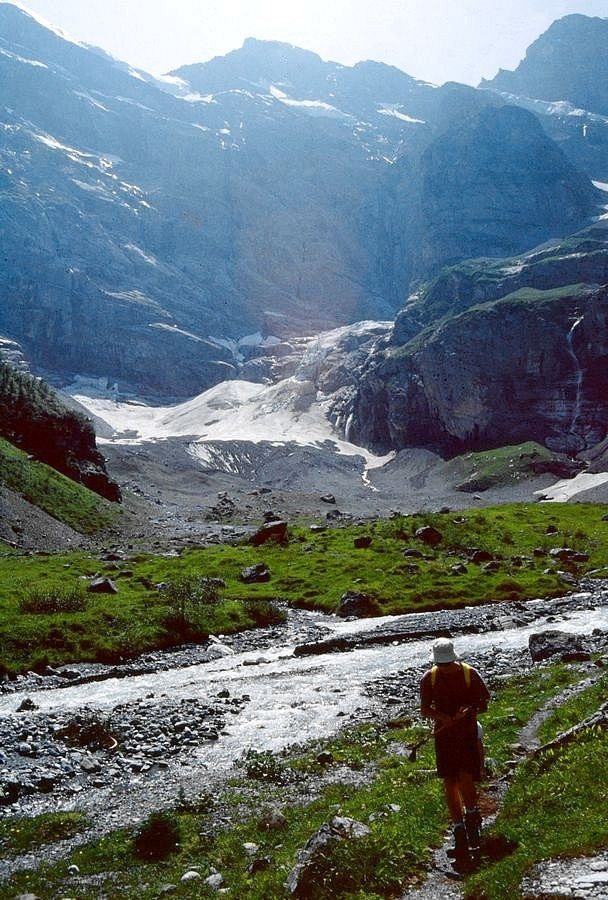 Die 1600 Meter hohe Gspaltenhorn Nordwand