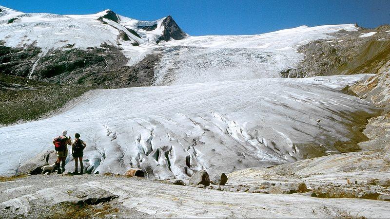 Schlatenkees vom Gletscherschaupfad Innergschloess
