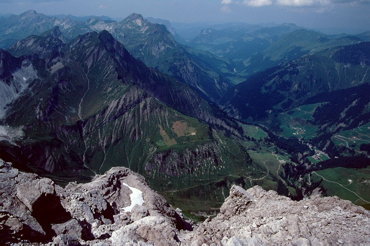 Schröcken und hinterer Bregenzerwald vom Gipfel der Mohnenfluh