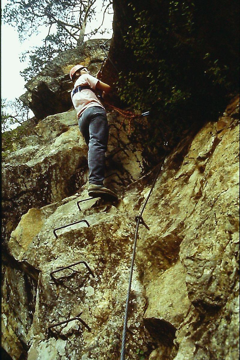"""Klettersteig """"Lehner Wasserfall"""" im Ötztal, Unterer Teil"""