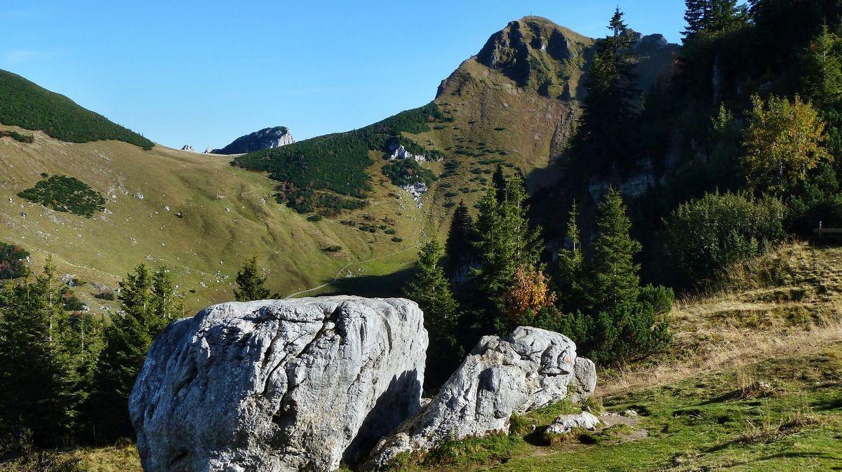 Die Rotwand vom Weg Rotwandhaus - Taubenstein-Bergstation