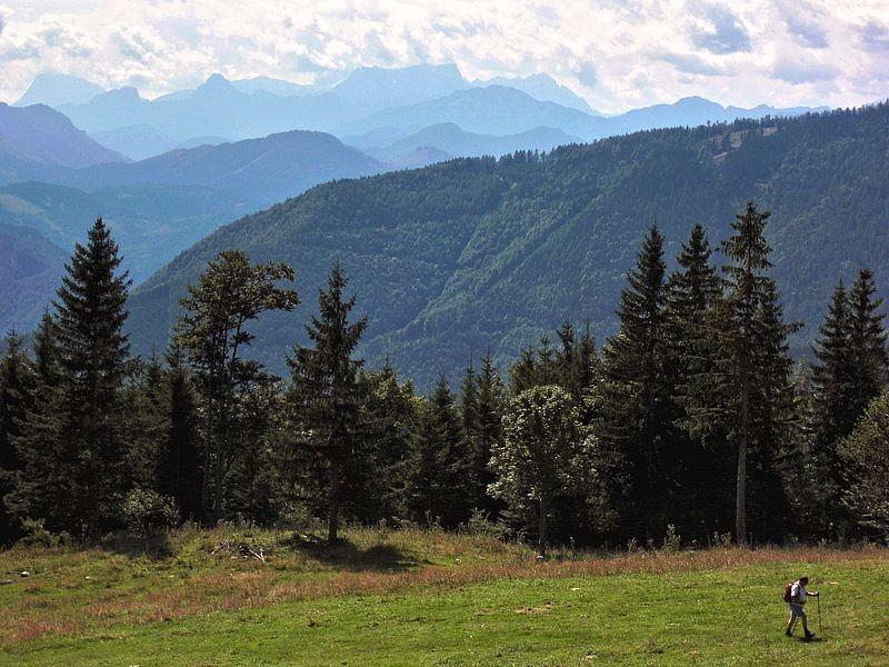 Das Gesäuse vom Aufstieg zur Anton Schösser Hütte