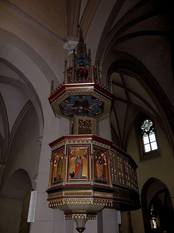 Die Kanzel in der Neustifter Kirche