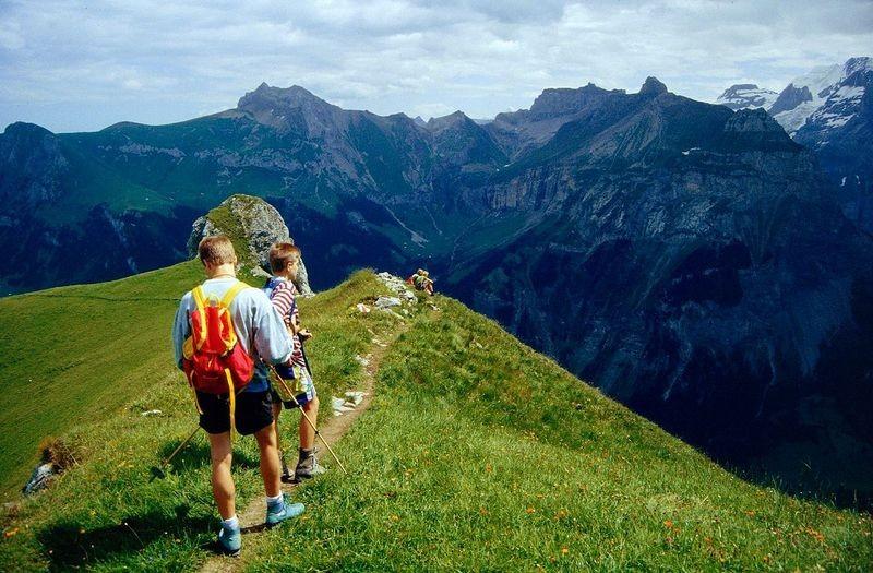 Am Stand. Blick zur Bire bei Kandersteg