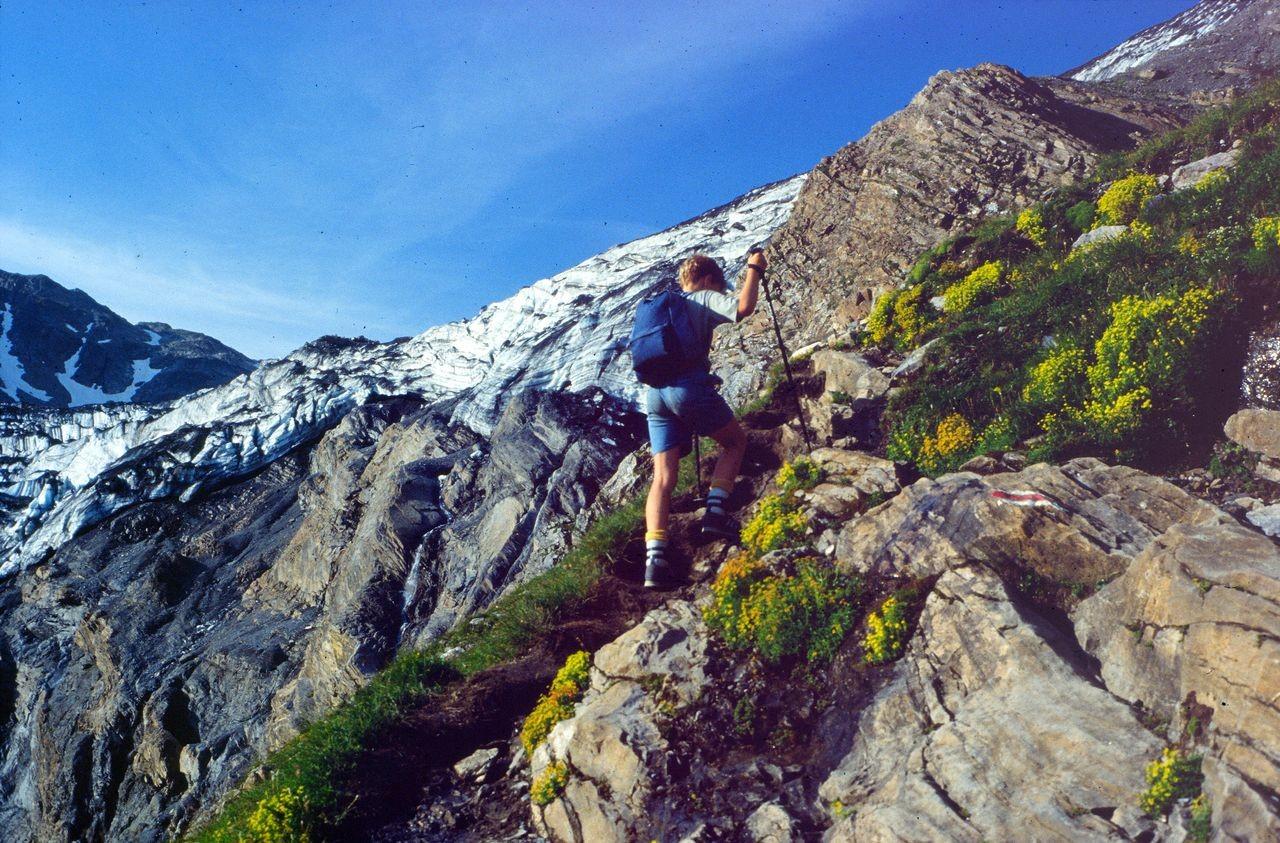 Steiler Schlussanstieg zum Lötschengletscher hinauf.