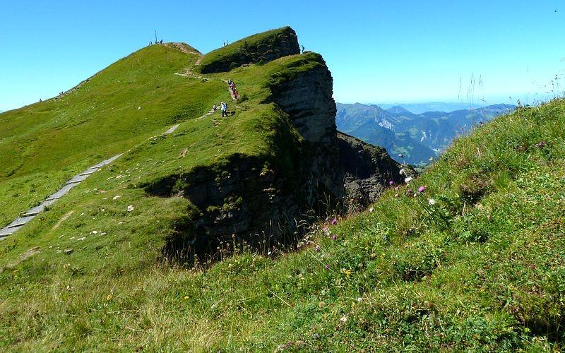Steile Nordabfälle des Diedamskopfes