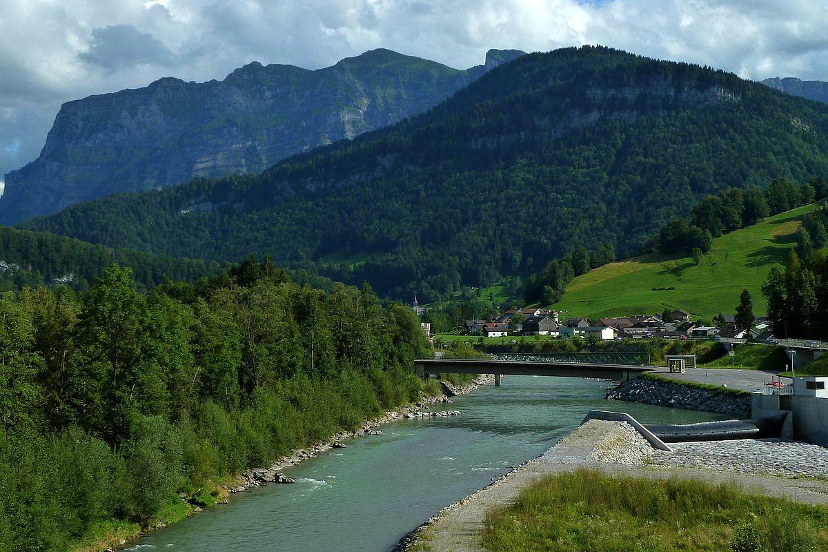Foto von der Bregenzerache  während eines Abstechers zum Kraftwerk.