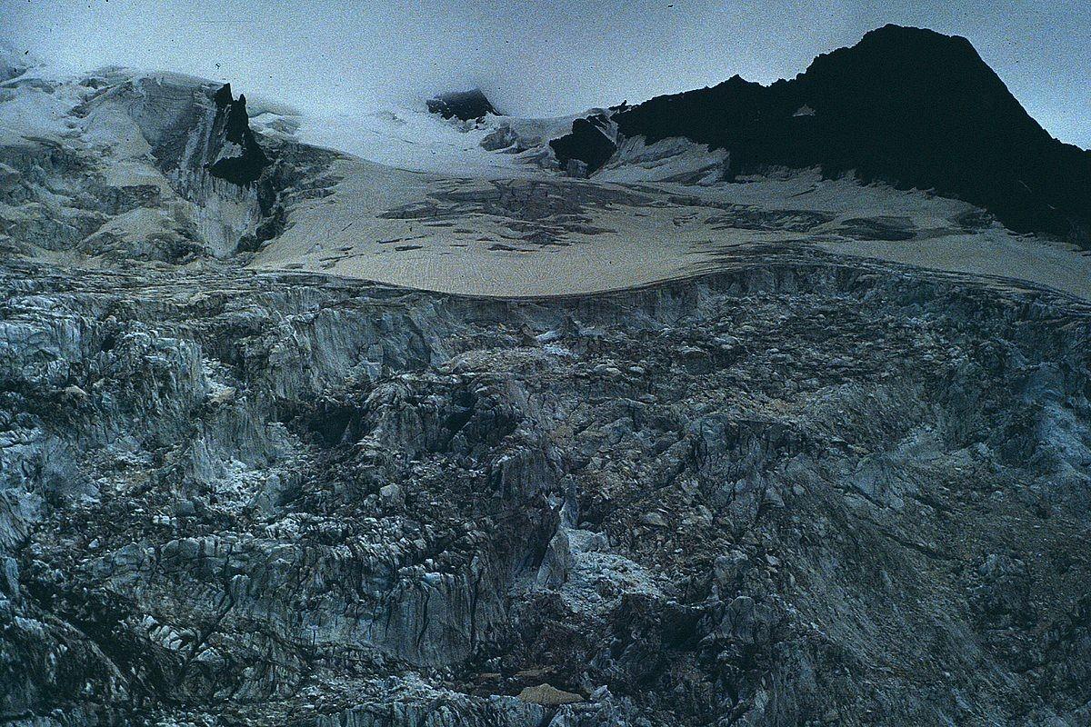 Eisbruch des obersten Tschiervagletschers unter dem Piz Scerscen