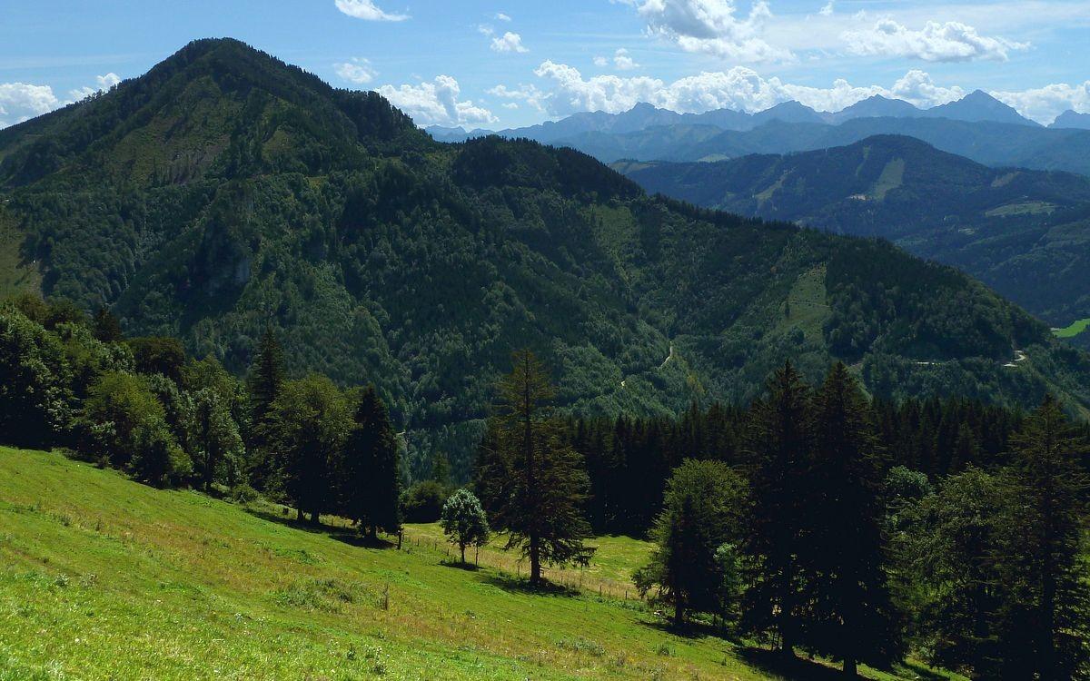 Höhenberg und Haller Mauern vom Anstieg zum Gamsstein