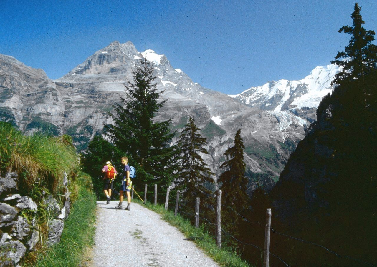 Der Weg aus dem Sefinental nach Gimmelwald