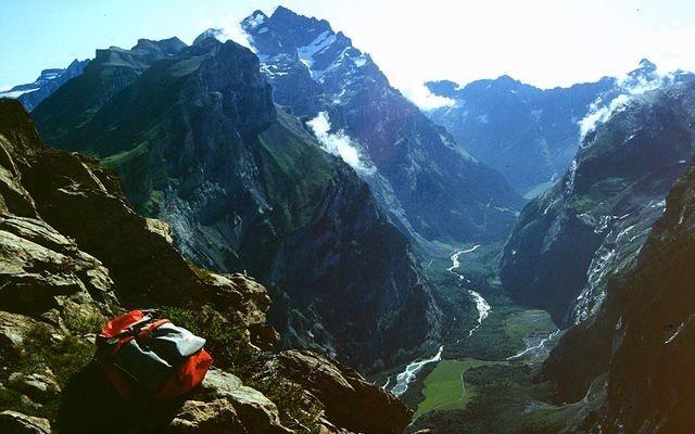 Gasterntal vom Gällihorn - Wanderung über Üschinengrat zum Gemmiweg