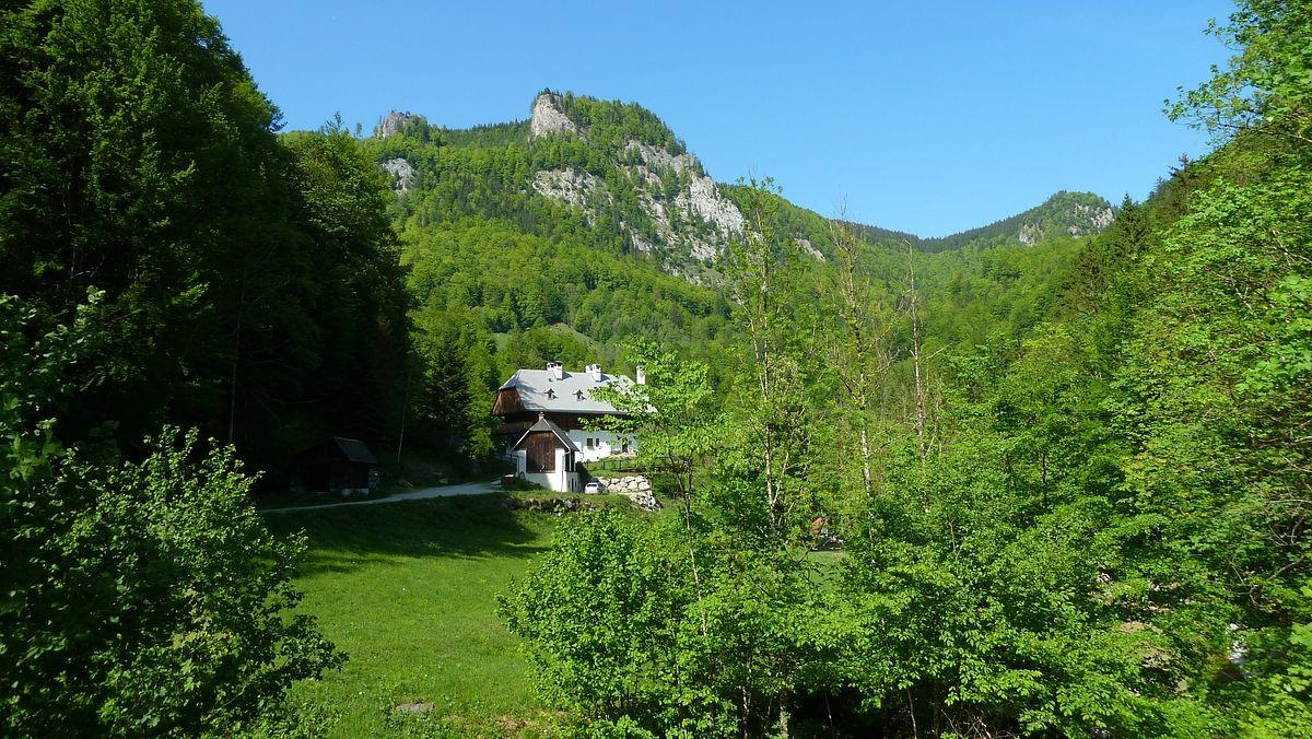 Jagdhaus im Bodinggraben vom Rückweg von der Blumenauer Alm
