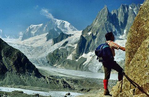 Mont Blanc vom Anstieg Montenvers - Rif. Couvercle