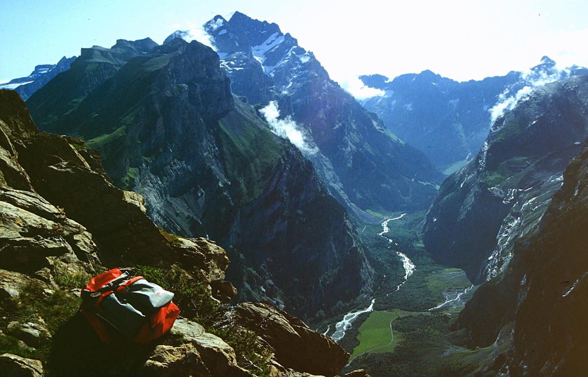 Doldenhorn und das Gasterntal vm Gipfel des Gällihorns