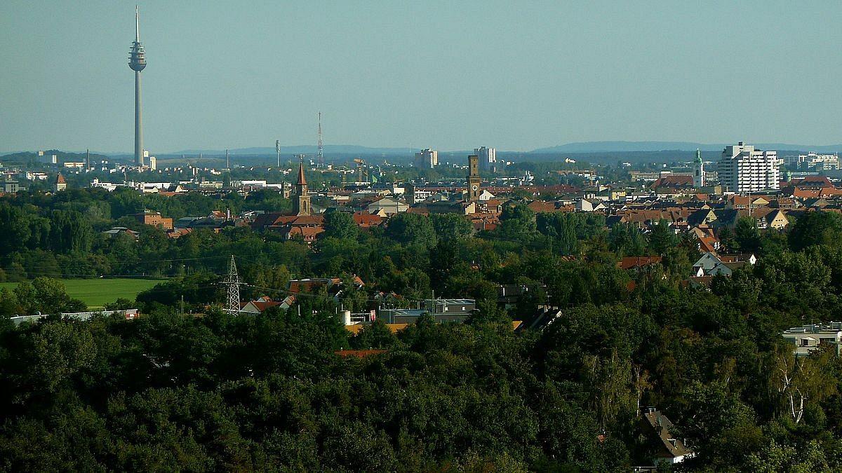 Blick vom Solarberg auf Fürth