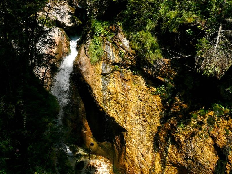 Der Wasserfall des Zimitzbachs