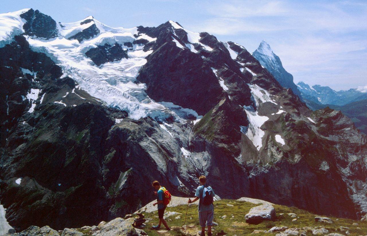Am Rückweg zur Glecksteinhütte vom Aussichtspunkt auf den Eiger