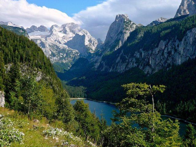 Gosausee - Dachstein vom Weg zur Ebenalm