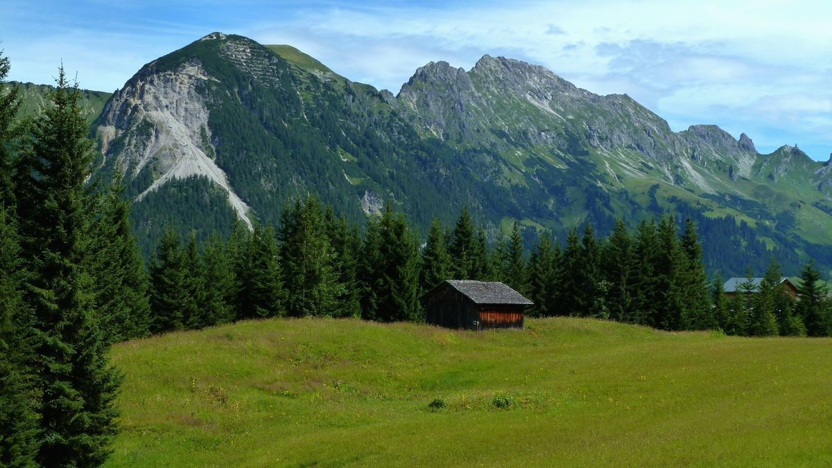 Alpgebiet bei Steinbild Vorsäß