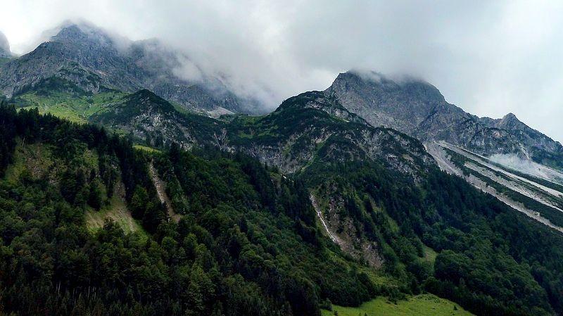Die Alp Schiedlen von Bad Hopfreben aus.