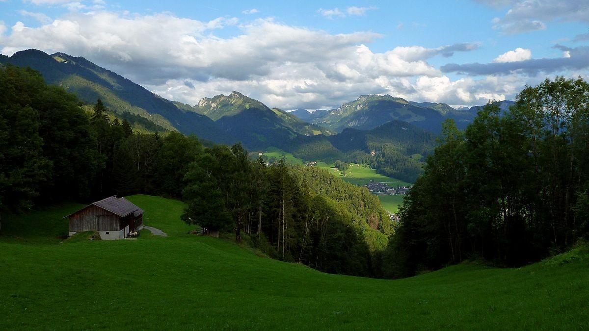 Oberhalb der Alpe Heugut