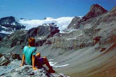 Wanderung Engstligenalp - Chindbettipass - Rote Totzlücke (Foto) - Lämmerenhütte - Gemmiweg