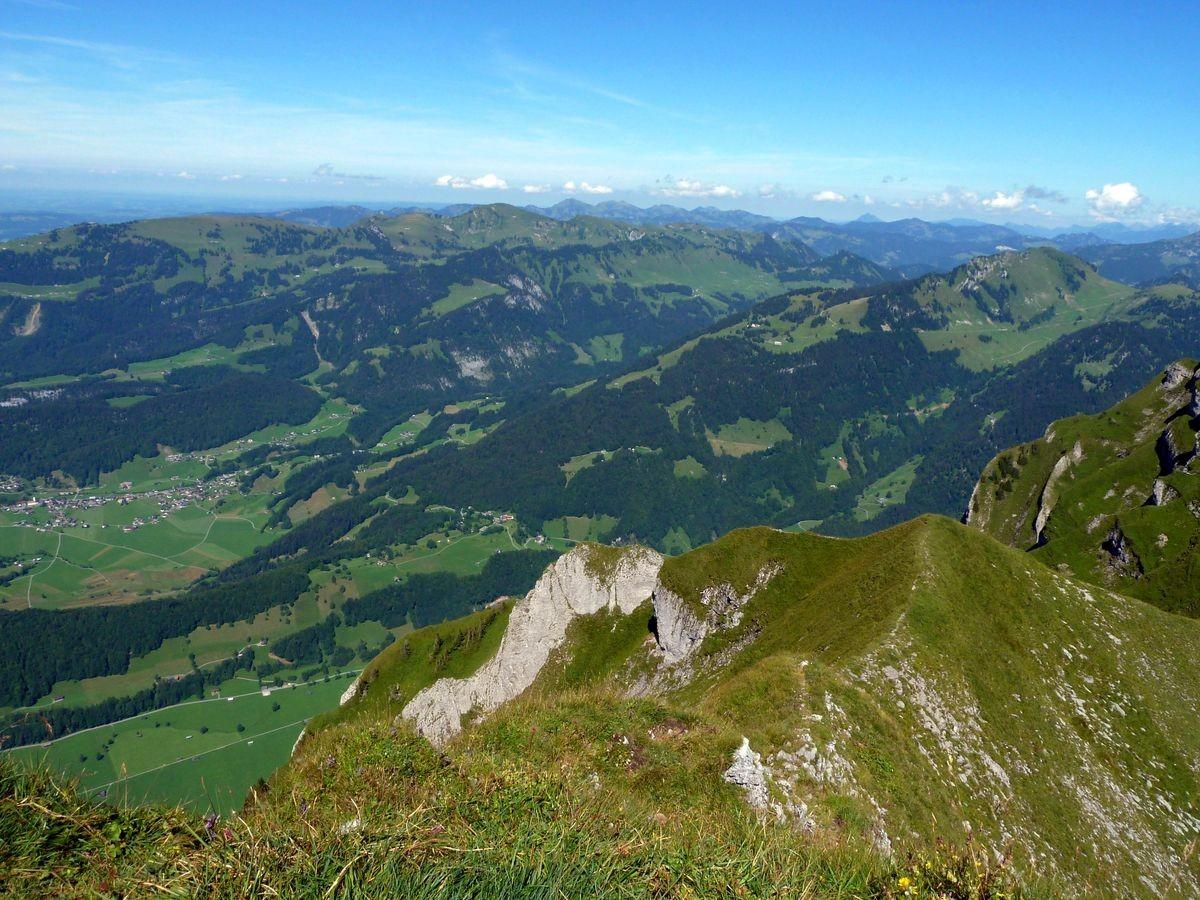 Allgäuer Alpen vom Gipfel der Holenke