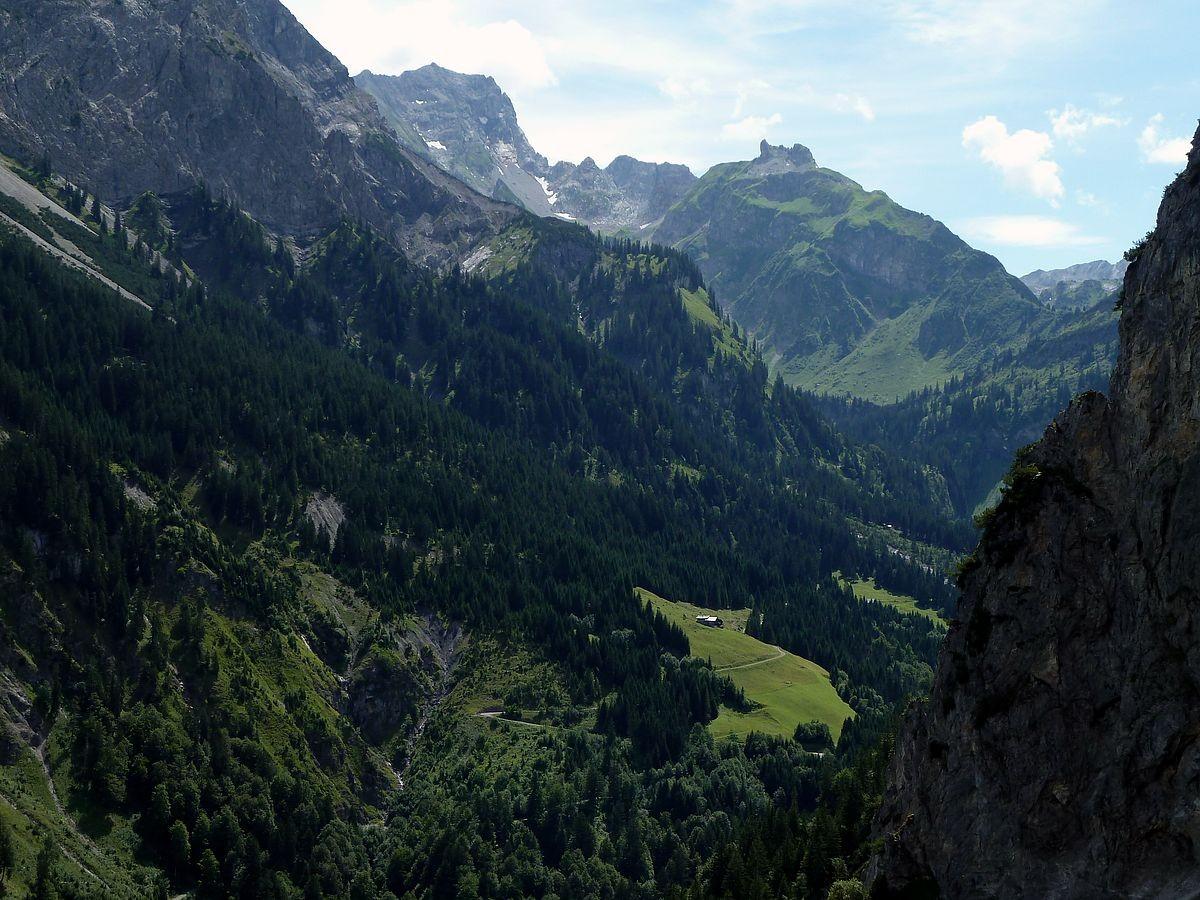 Rinderer Alpe und Rote Wand von Hintersteinbild Vorsäß