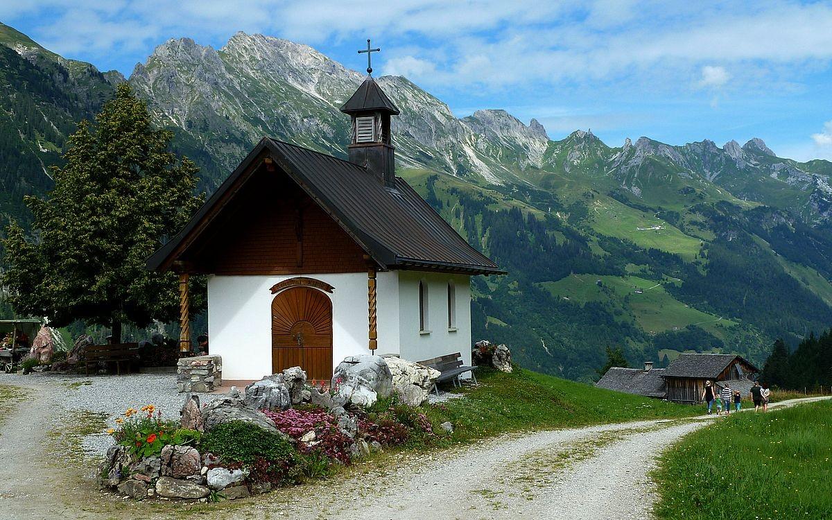 Die Rosenkranzkapelle in Vordersteinbild Vorsäß