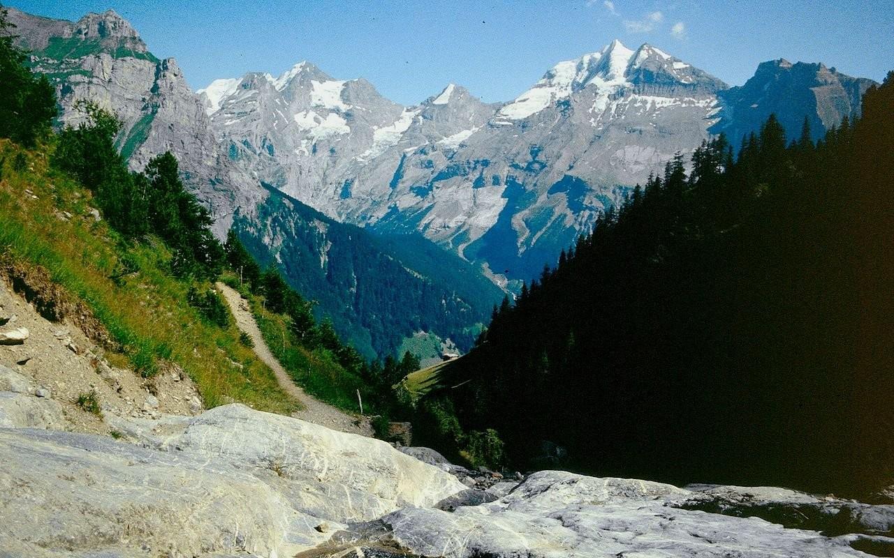 Blümlisalpgebiet vom Steig zur Golitschealp