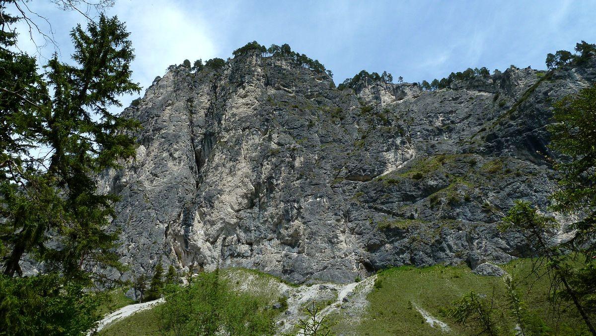 Polstermauer vom Weg Schiederweiher - Polsterstüberl