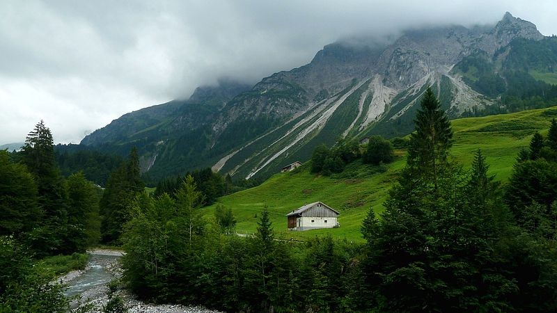 Bregenzerache und Niedere Künzelspitze