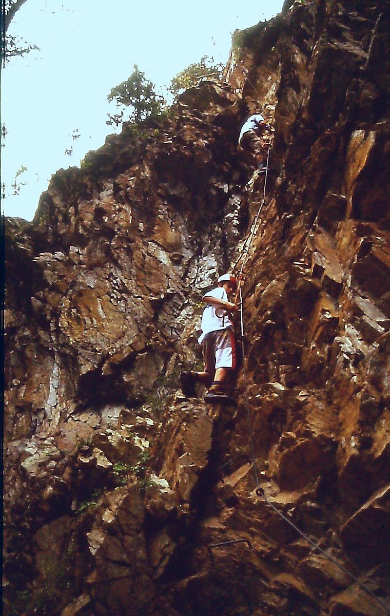 """Klettersteig """"Lehner Wasserfall"""""""