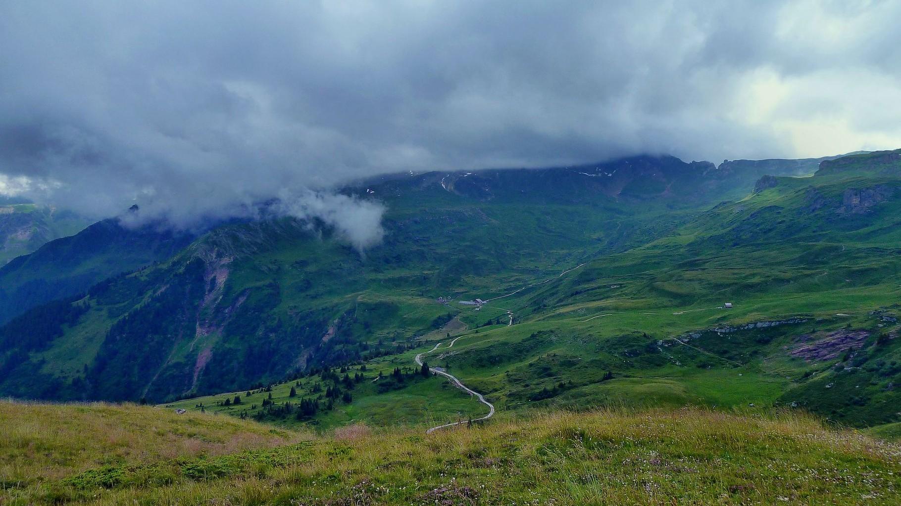Almgebiet östlich-südöstlich der Maschgenkammbahn-Bergstation