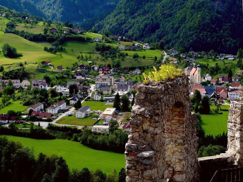 St. Gallen in der Steiermark von Ruine Gallenstein