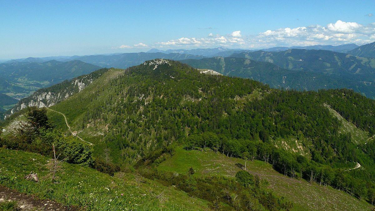 Blick auf die Ennstaler Alpen im Osten