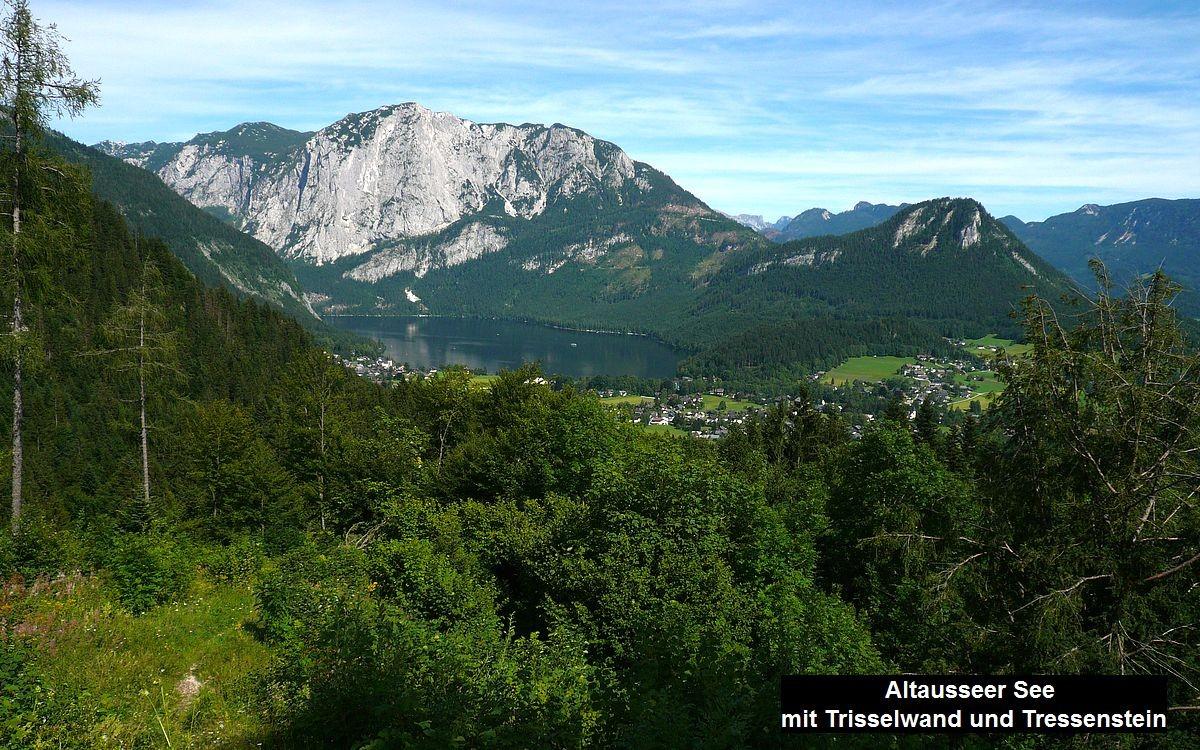 Altausseer See mit Trisselberg/Trisselwand und Tressenstein von Ruine Pflindsberg