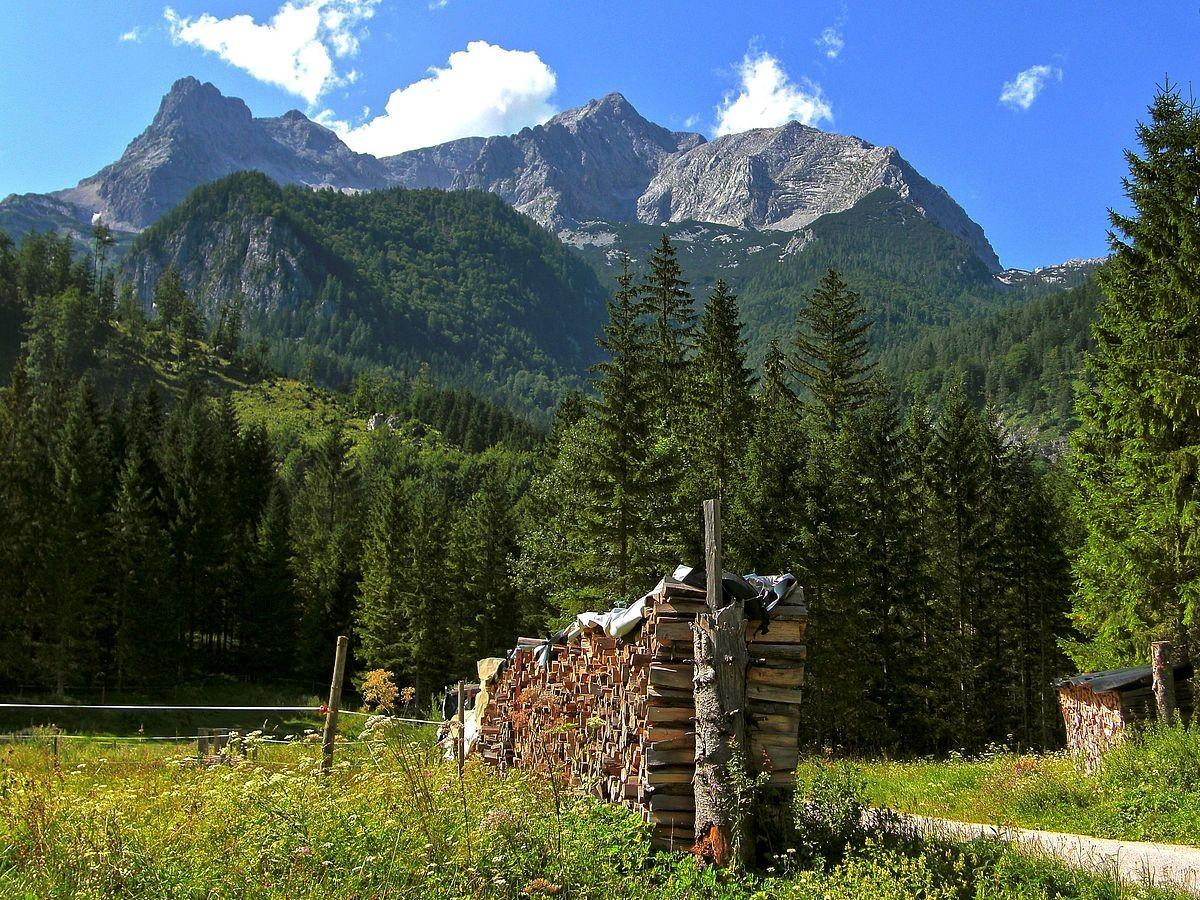 Großer Priel vom Rundweg Schiederweiher - Polsterstüberl