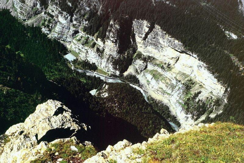 Blick vom Jegertosse in die Chlus