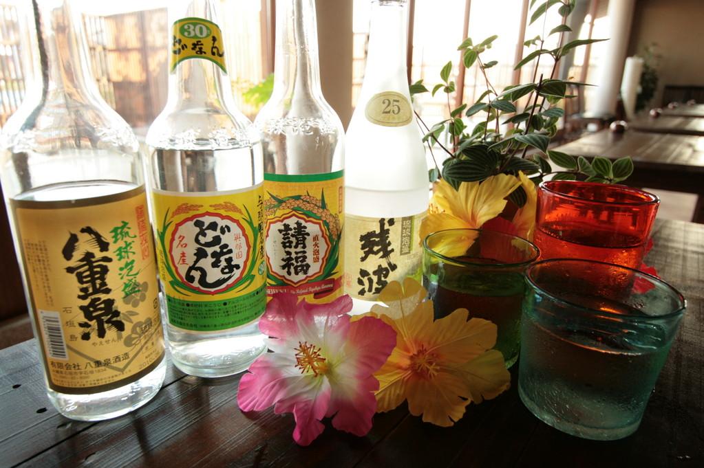 琉球グラスで泡盛を飲めます♪