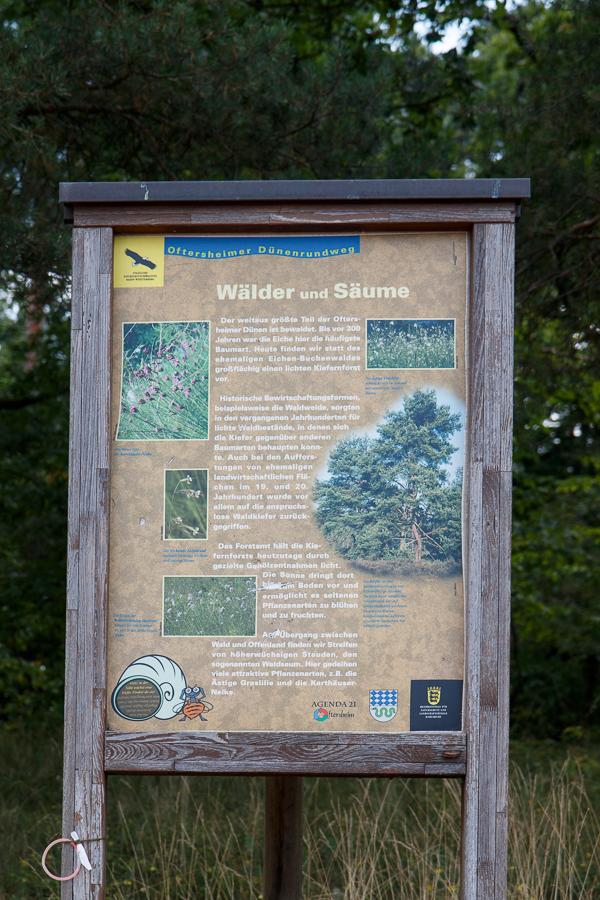 """Rundwegtafel """"Wälder und Säume"""" (Foto: B. Budig)"""