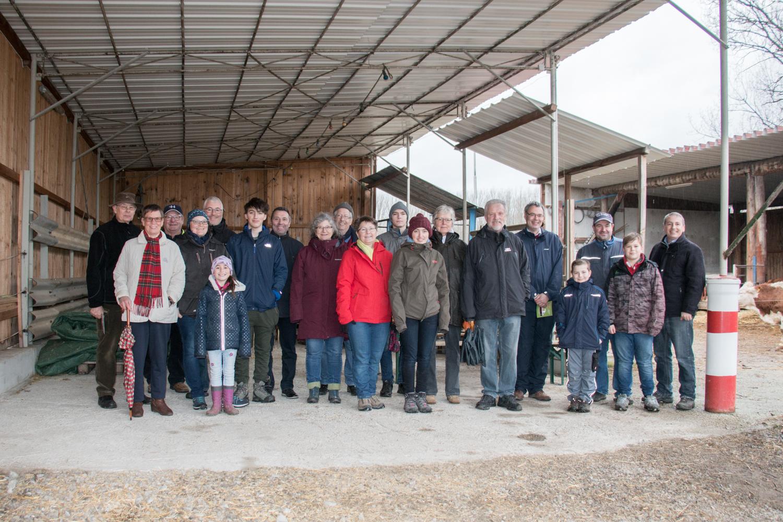 Alle Teilnehmer der Hofrundfahrt