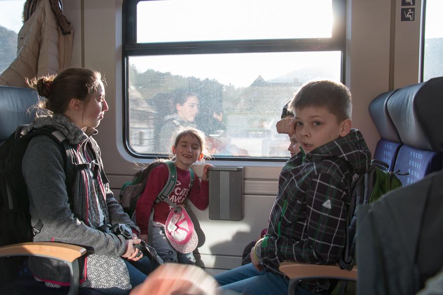 Rückweg mit der Bahn (Foto: B. Budig)