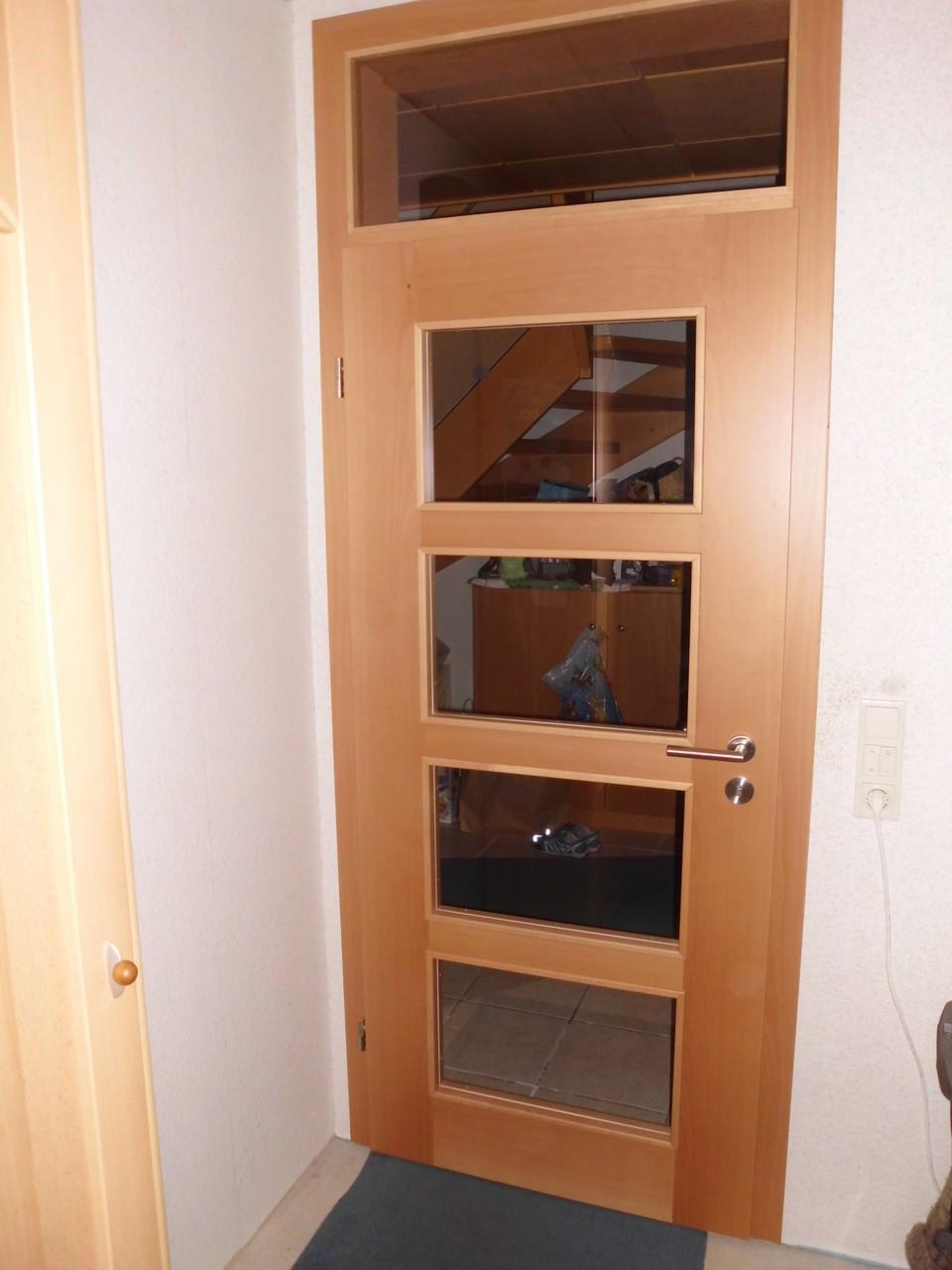 Zimmertür Buche mit Oberlicht & Klarglas Sonderanfertigung Eigene Herstellung Privatkunde