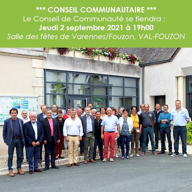 Conseil Communautaire du 2 septembre 2021