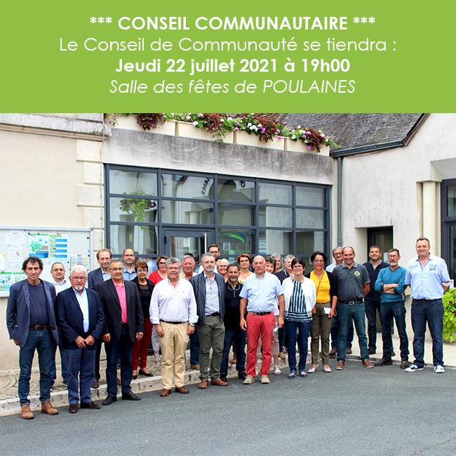 Conseil Communautaire du 22 juillet 2021