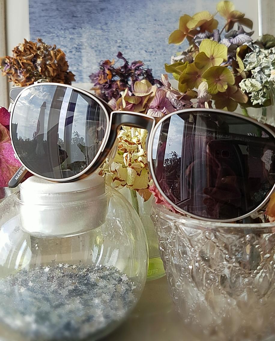 Meine Brille mit Sonnenbrillenaufsatz