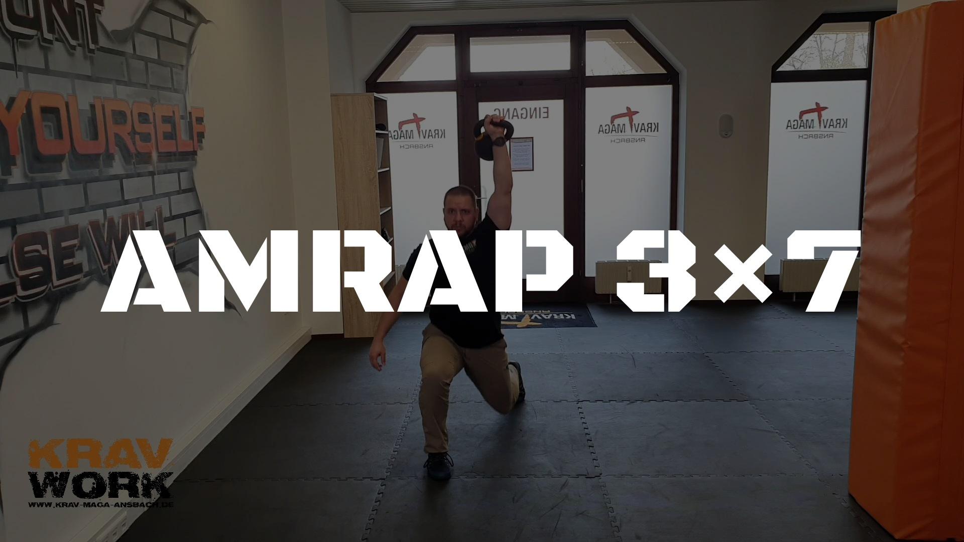 KRAV WORK | AMRAP 3×7