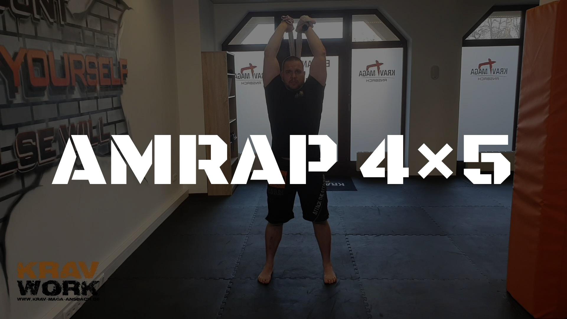 KRAV WORK | AMRAP 4×5