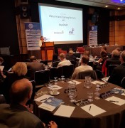 Photo of speaker and participants Pharma Integrates 2017 London